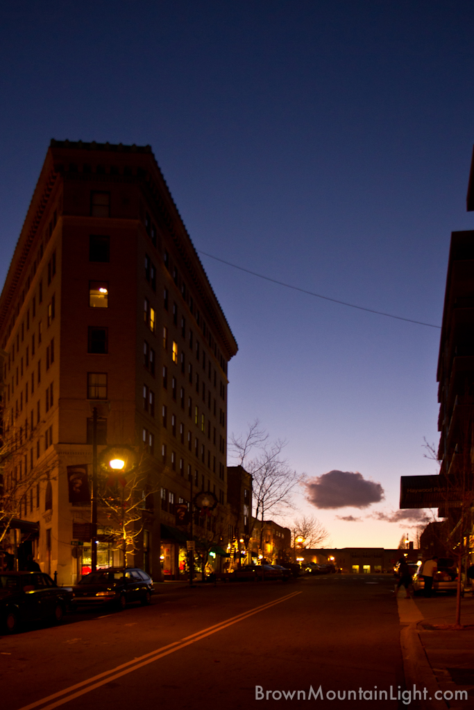 Downtown Asheville At Dusk 3