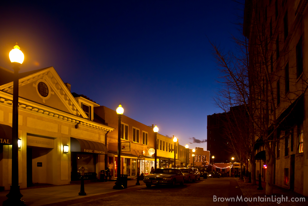 Downtown Asheville At Dusk