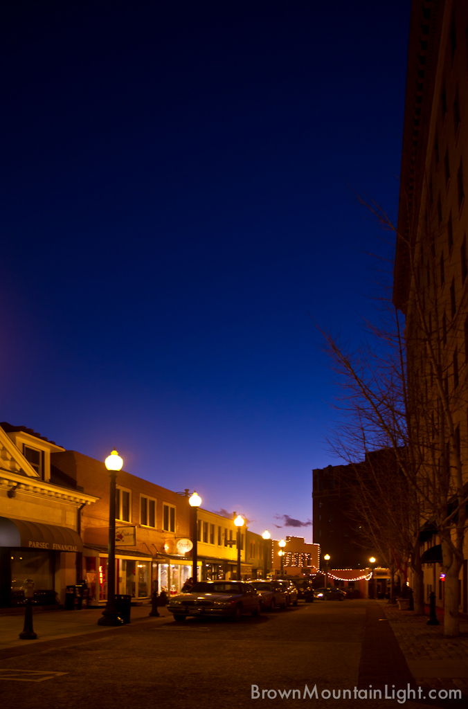 Downtown Asheville At Dusk 2